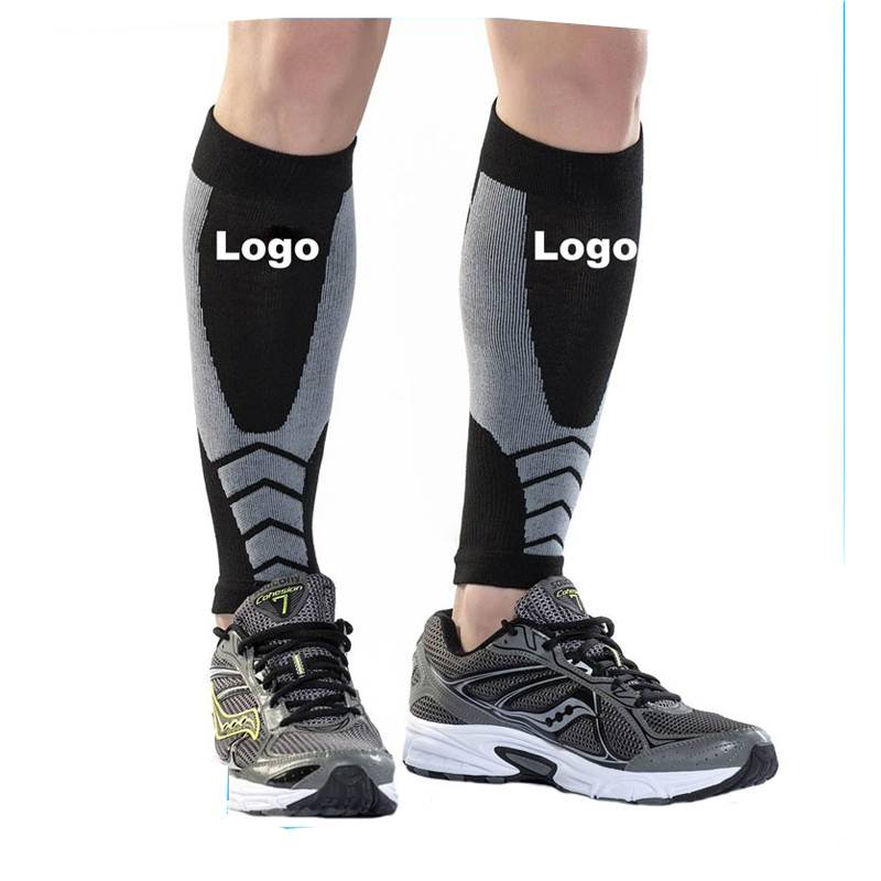 Customized design spandex calf guard compression sleeves leg for Men sports