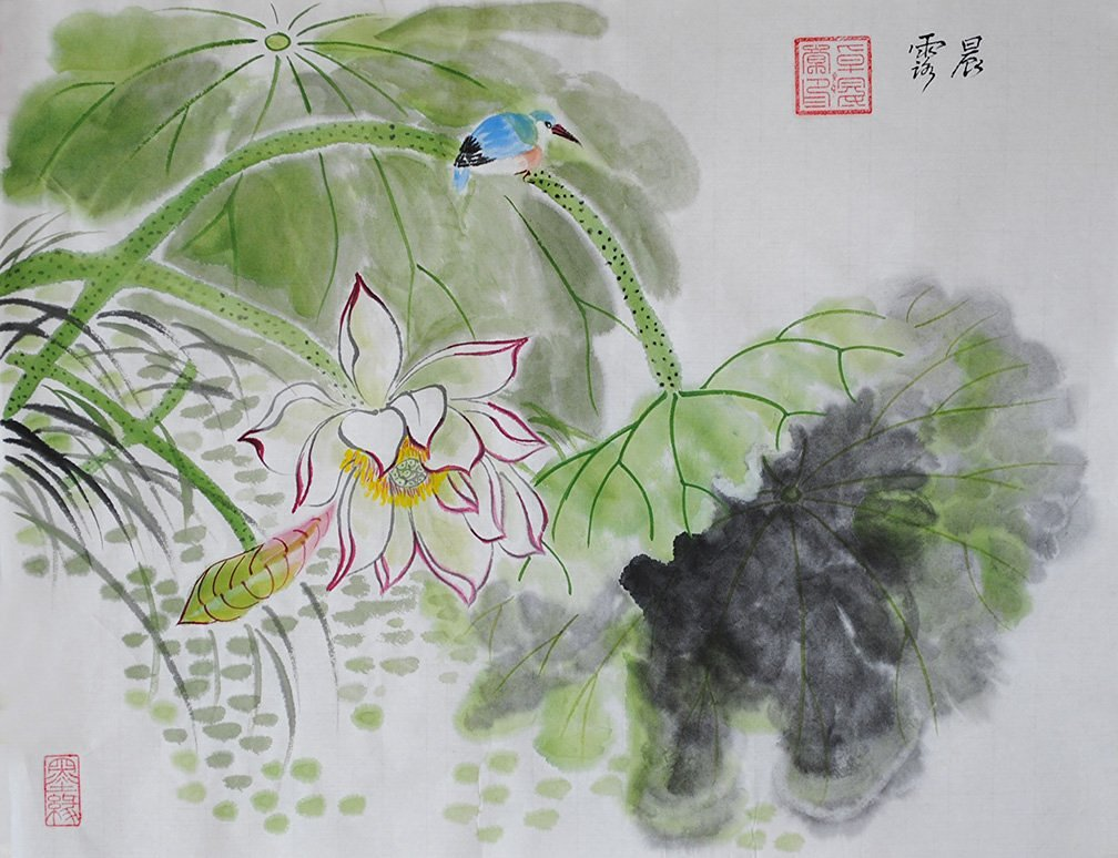 Buy Jiangnanruyi Art Lotus Flower Original Hand Painted Artwork