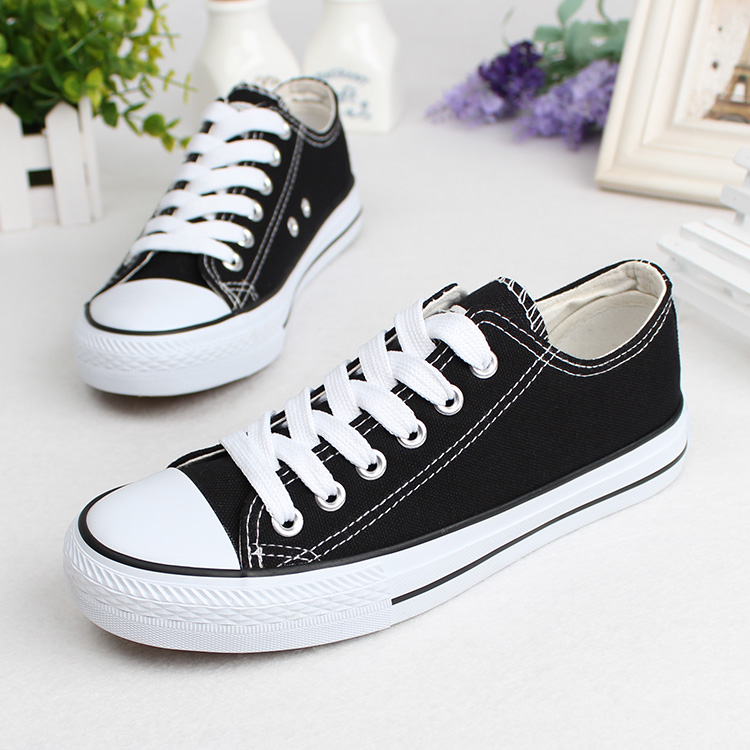 7a6dadac0c Unisex Men's&Women's Low & high Style Canvas Shoes Classic flat ...