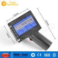 China Coal Industrial handheld Inkjet Batch Code Printers Print Machine for Code Marking on Wood, Metal, Plastic, Carton