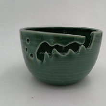 Dehua Porcelain yarn bowl stoneware knitting yarn holder