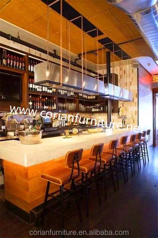 Moderna de cristal de madera night club cafe restaurante casa sal n de dise o barra de bar mesas - Barra de bar salon ...