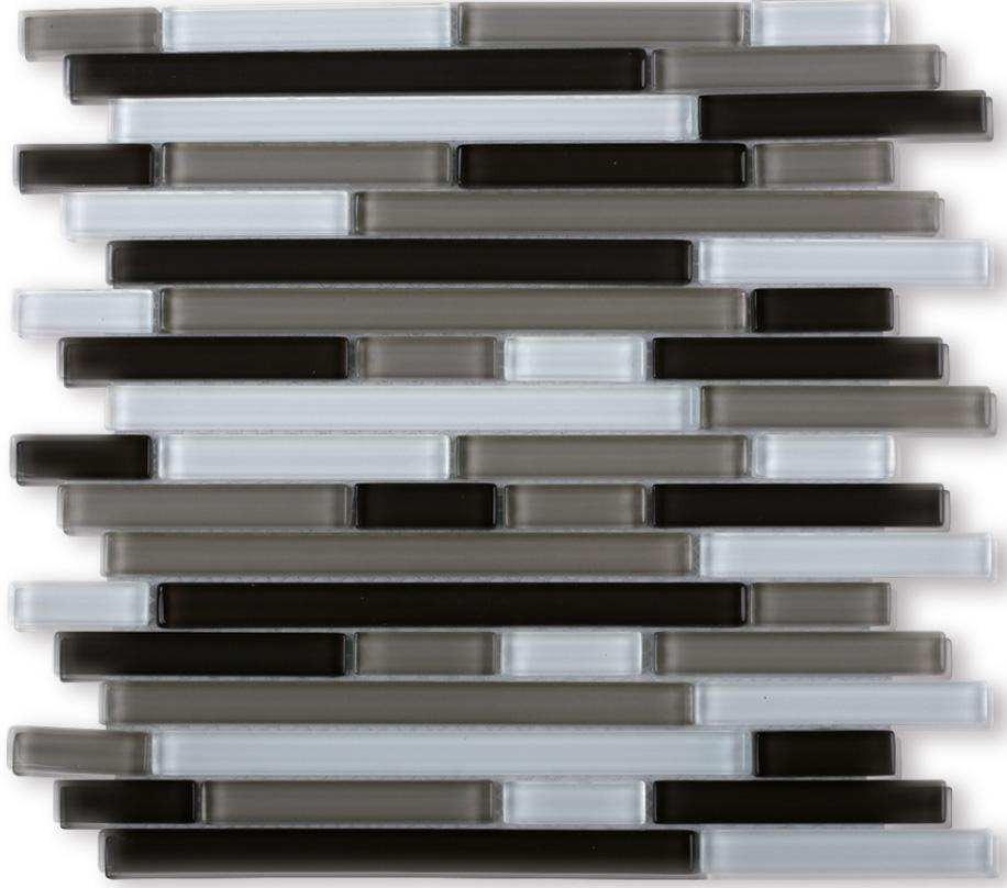 Welp Zwart Strip Glasmozaïek Tegel Gemengde Metalen Wandtegels,Swimimng OF-13