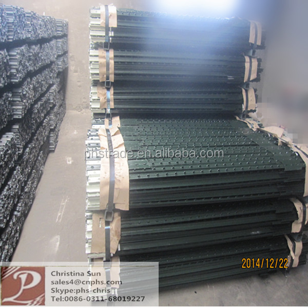 China Suppliers Used Removable Green Painted Farm Fence Metal T ...
