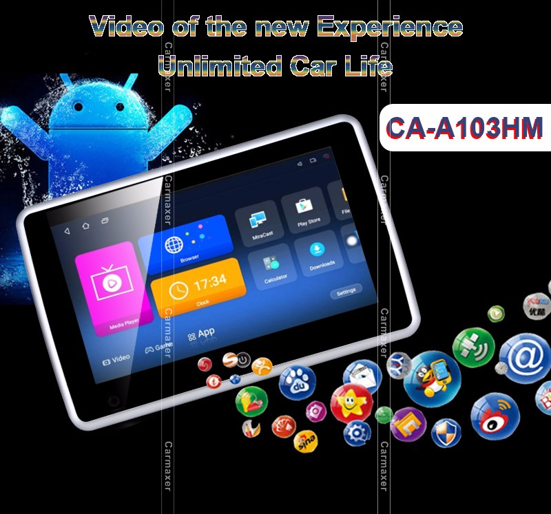 "headrest android car media player 1080p car monitor android 10"" car dvd player android"