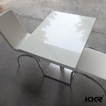 White Quartz Table Top Table Design Ideas