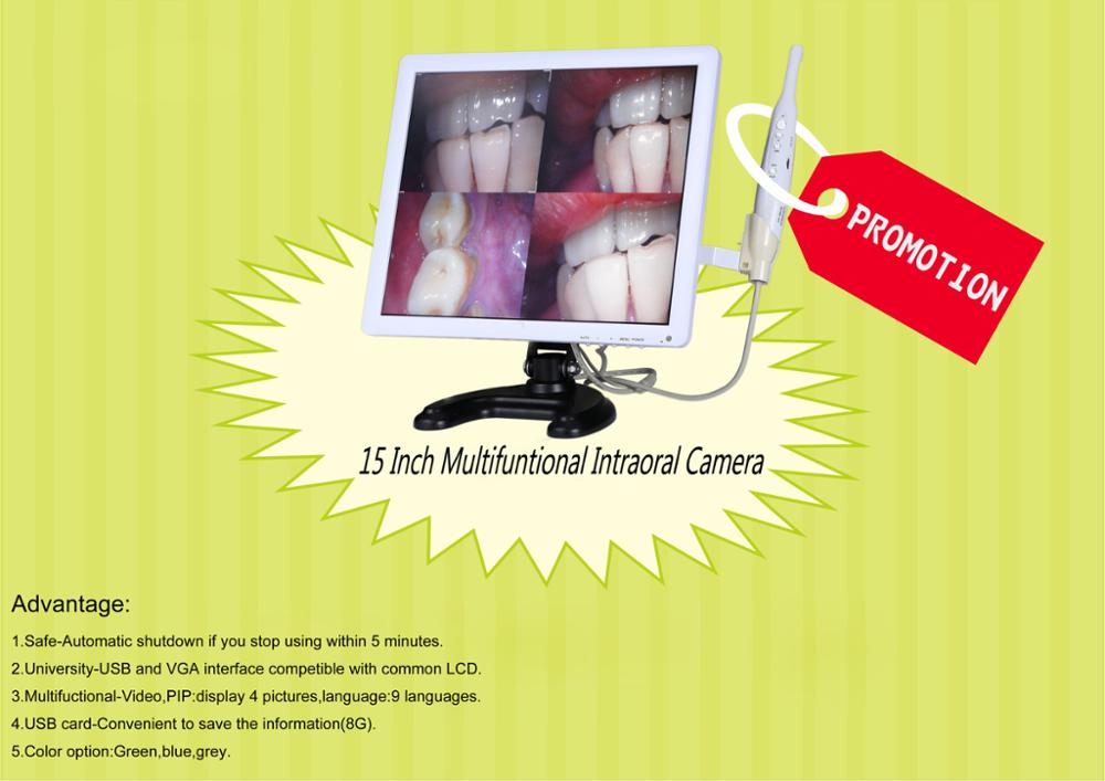 NEW Dental LED Monitor Intraoral Camera video intra oral camera with Holder
