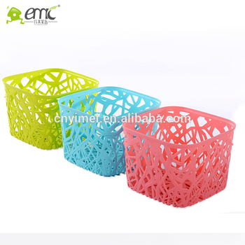 Emc Plastic Square Storage Baskets Small Size For Sundries