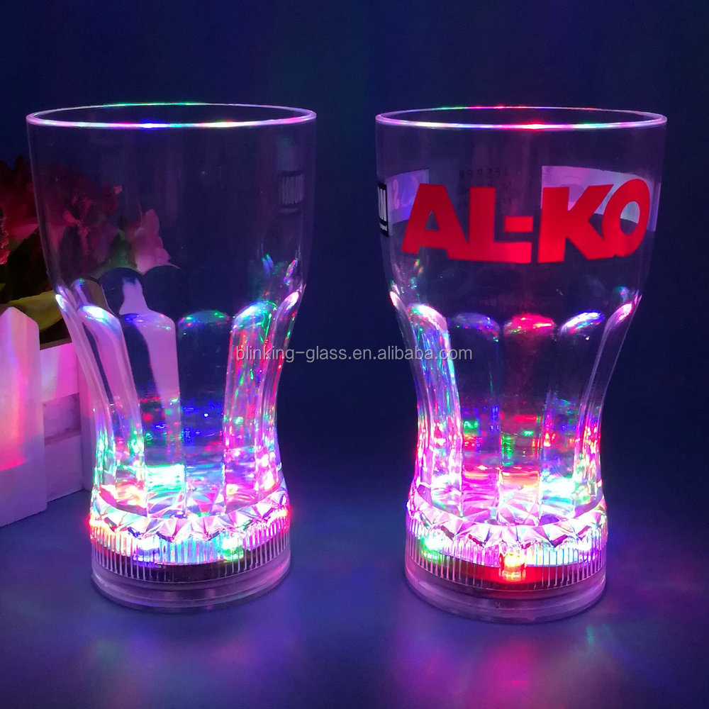 LED Flashing Coke Cup with liquid activated function and switch on/off