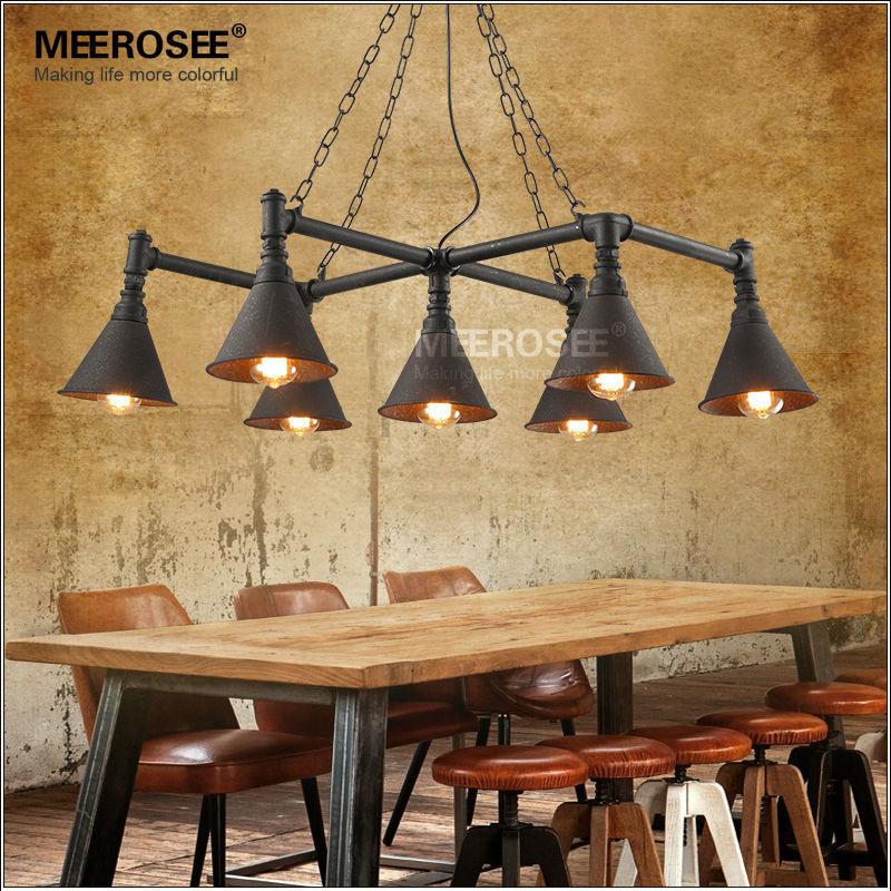 Eenvoudige moderne metalen waterpijp industri le vintage stijl hanglamp lampen edison ophanging - Licht industriele vintage ...