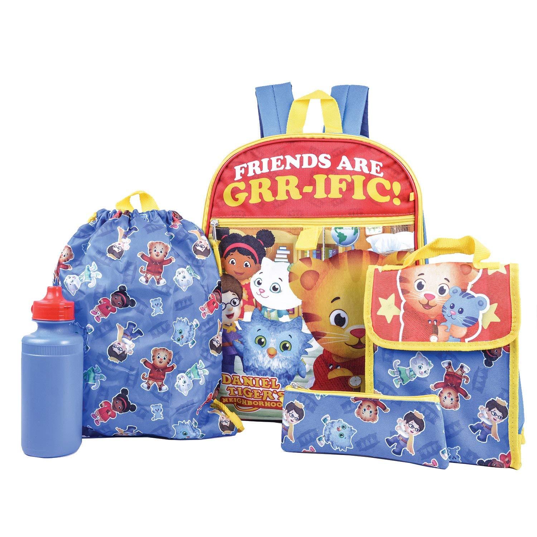 c18a762590 Get Quotations · Daniel Tiger s Neighborhood Backpack Combo Set - Daniel  Tiger s Neighborhood 5 Piece Backpack School Set