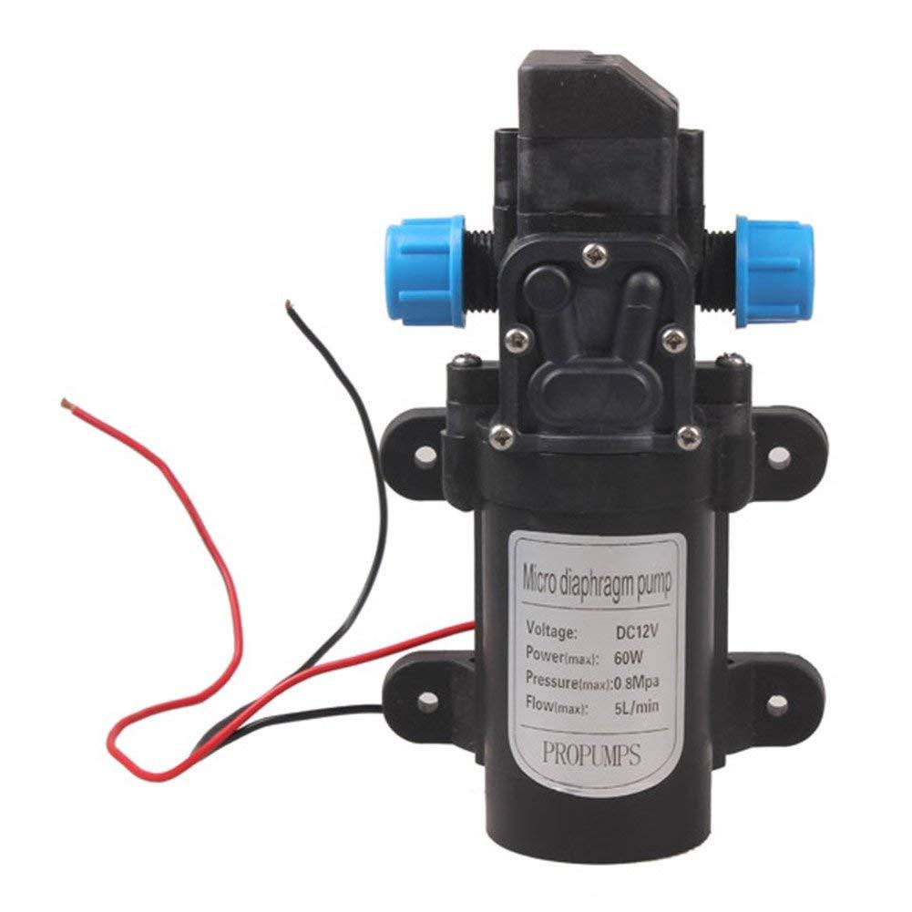 LiChiLan Micro Diaphragm Water Pump,DC 12V 60W High Pressure Micro Diaphragm Water Pump Automatic Switch 5L/min