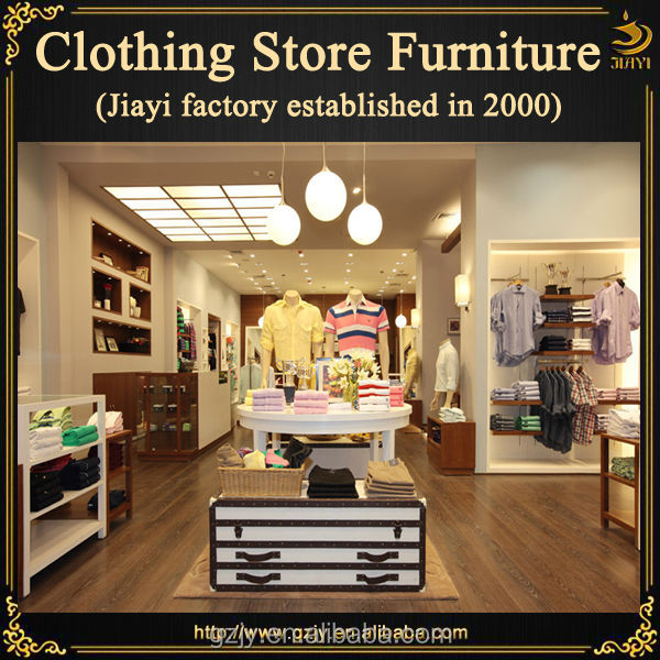 2454a10f9e9 Modern wood clothing display cabinet furniture for female garment store  interior decoration