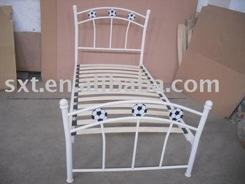 2015 Bazhou Single Football Metal Bed Frame With Wood Slat Bedroom