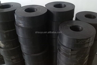 Steel Rail Black Grooved Rubber HDPE Pads
