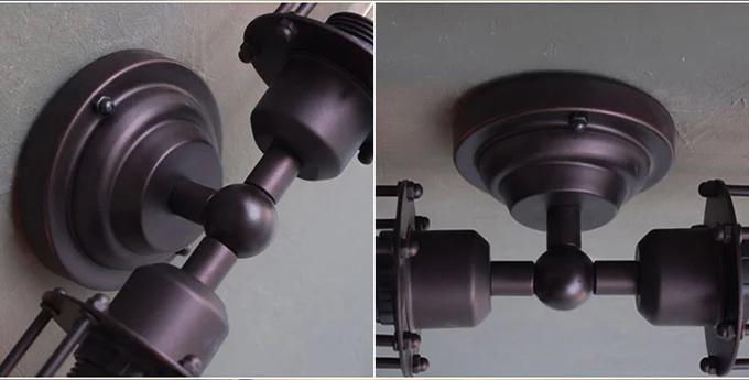 Lampade Da Soffitto Vintage : Nero americano rurale industriale stile retrò vernice opaca led da