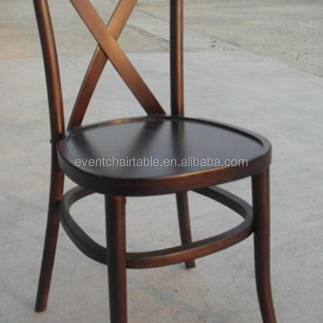 Antique Wood Beach Cross Back Chair, Tuscan Chairs