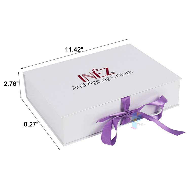 custom high end gift ribbon hair boxes weave packaging