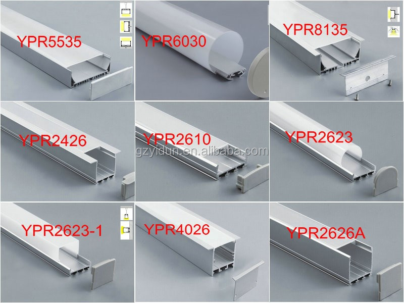 YIDUN Lighting recessed mount led aluminum profile for handrail