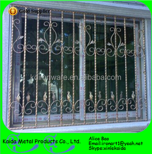 Beautiful Ornamental Wrought Iron Door Window Grill Design