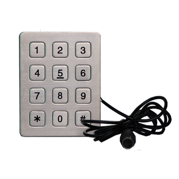 Weatherproof 3x4 Rs232 Numeric Keypad For Access Control System - Buy Rs232  Keypad,Waterproof Numeric Keypad,Access Control System Keypad Product on
