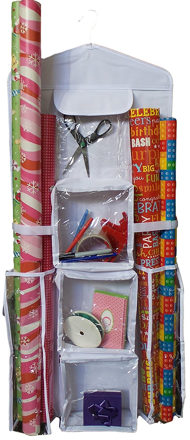 get quotations happi home double sided hanging gift wrap organizer