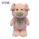 2018 Lovely pink pig dog toy High Quality soft toy pink pig