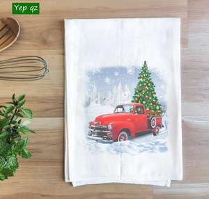 100% cotton christmas kitchen towel novelty kitchen towels