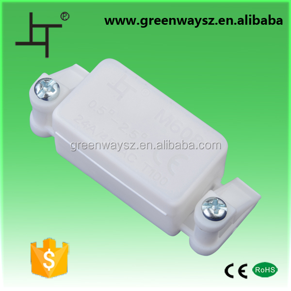 2 way two side clip wire led connection box