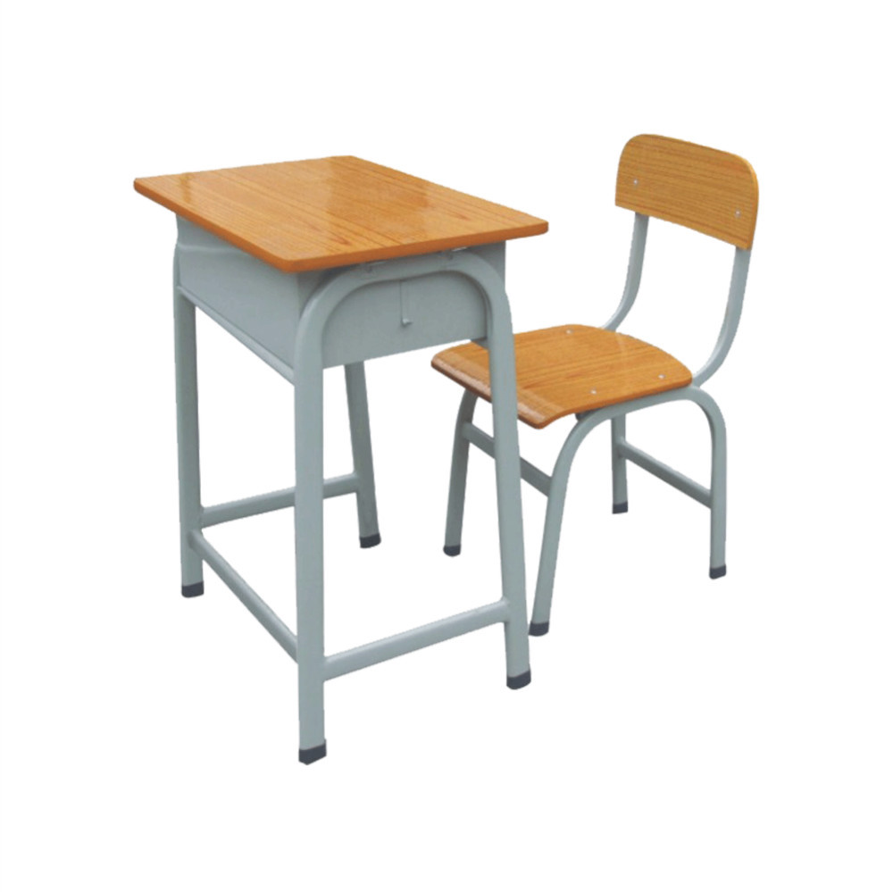 Cheap Metal Plus Wooden Adult Child Kids Study Table Chair