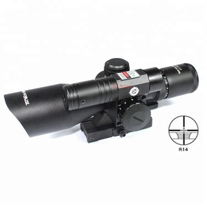Vector Optics 2.5-10x40E Tactical Rifle Scope with Green Laser Weapon Sight with QD 11/ 20mm Weaver Mount Riflescope For Hunting