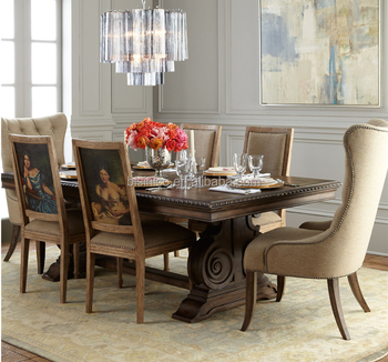 American Country Style Solid Wood Dining Room Set, Post Modernism Luxury  Dinning Table And