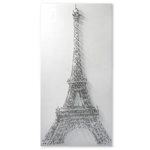 Decorative Paris Eiffel Tower Pins 3D wall art canvas Painting For Wall Decor
