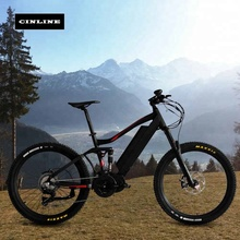 Stealth bomber enduro off road ebike 48V 1000W Bafang mid drive electric mountain bike full suspension e MTB