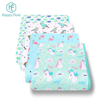 HappyFlute Custom Cheap Baby Muslin Animal Printed Cotton Baby Swaddle Blanket With Applique