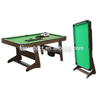 Wonderful 5FT 6FT Indoor Wooden Foldable Movable Leg Pool Table / Snooker Billiard  Table