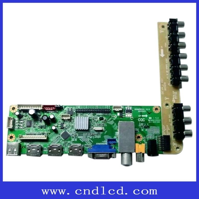 VGA+HDMI+USB+AV+DVI+Single/dual LVDS Driver Board With Standard Type Can Be Extended Plate Type And L Type