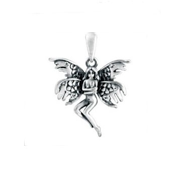 Silver color angel Charms Wholesale New Unique Design stainless steel casting angel girl Pendant