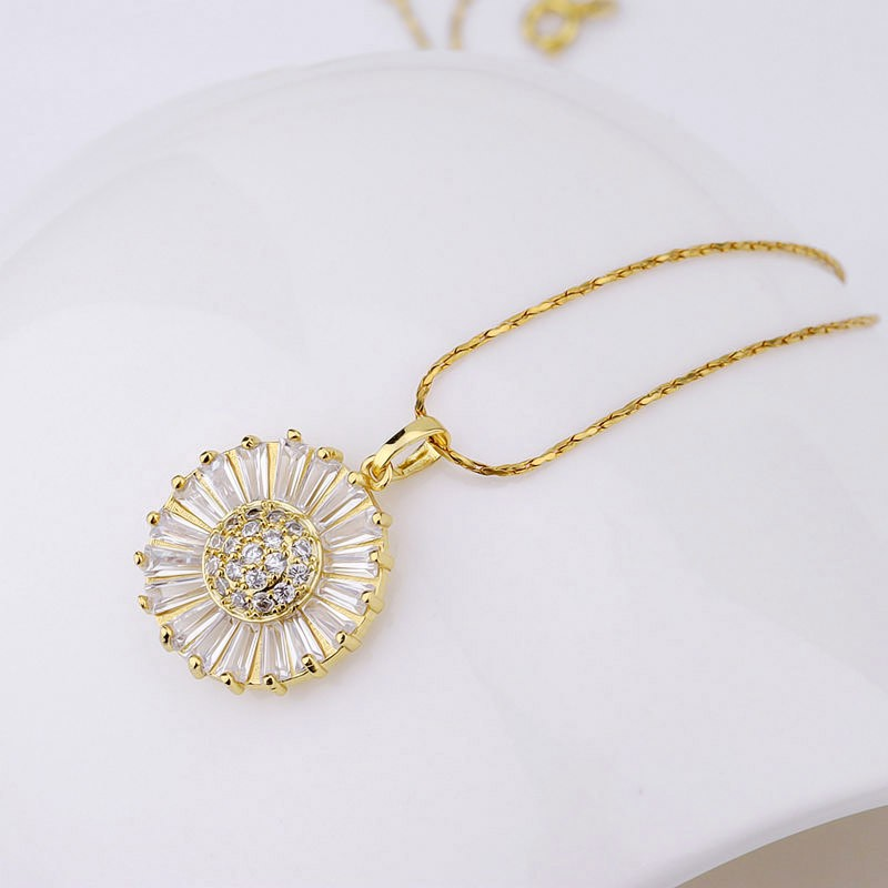 Jewelry Making Supplies Wholesale Gold Plated Brass Flower Design