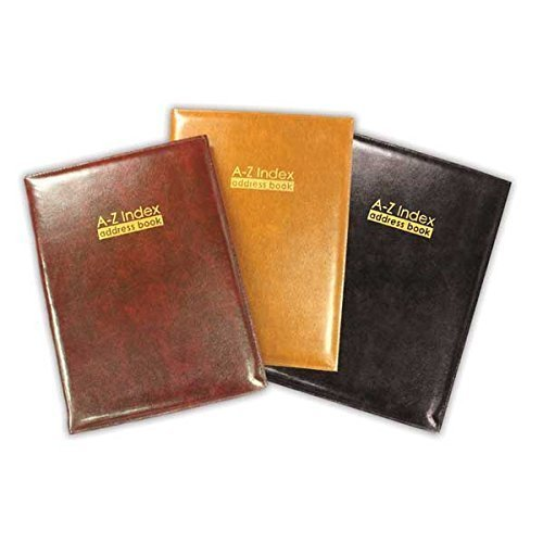 The Home Fusion Company Black Large Size 185 X 245Mm Size A Z Index Leather Cover Executive Padded Address Book