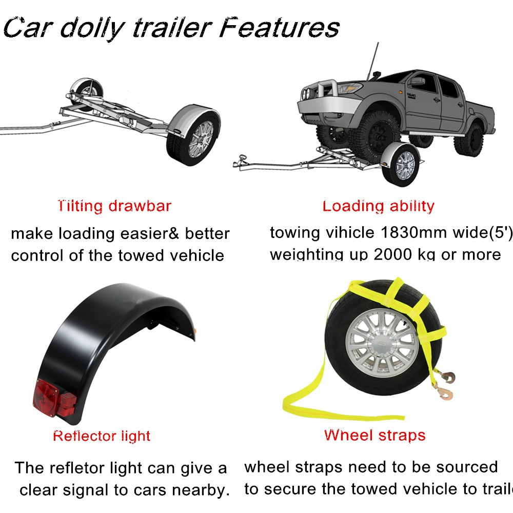 China Factory Customized Car Tow Dolly Trailer For Sale - Buy Car ...