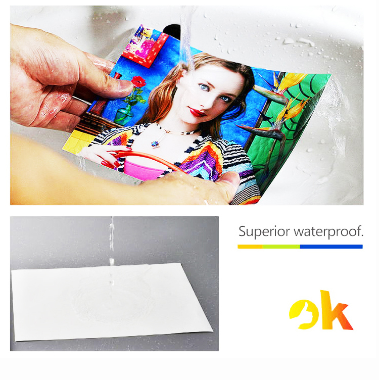 100% Tested Surface special printing coating Pearl Self Adhesive Paper