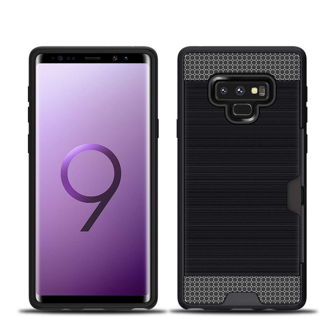 best authentic 423b1 02d22 Free Sample Tpu Pc Hybrid Brushed Card Holder Back Case Cover For Samsung  Galaxy Note 9 Case - Buy For Samsung Galaxy Note 9 Case,Case Cover For ...