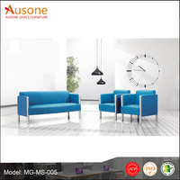 China Manufacture Leather Modern Design Office Sofa