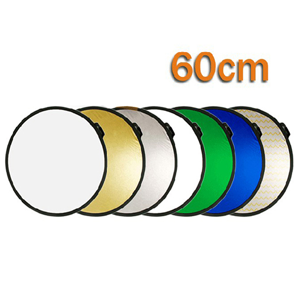 "24""/ 60cm 7 in 1 Colorful Portable Photography Studio Reflector Multi Photo Disc Collapsible Light Reflector"