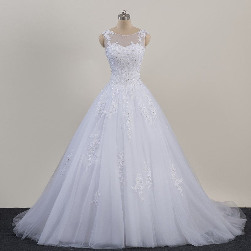 BL151 Real Pictures China Designers White Ivory Lace Appliques A Line Women Adult Wedding Gowns And Bridal Dress