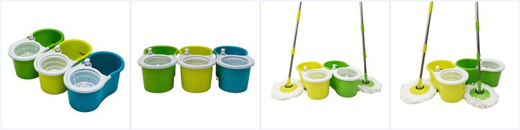 Floor cleaning hand press magic mop assemble microfiber 360 spin magic mop