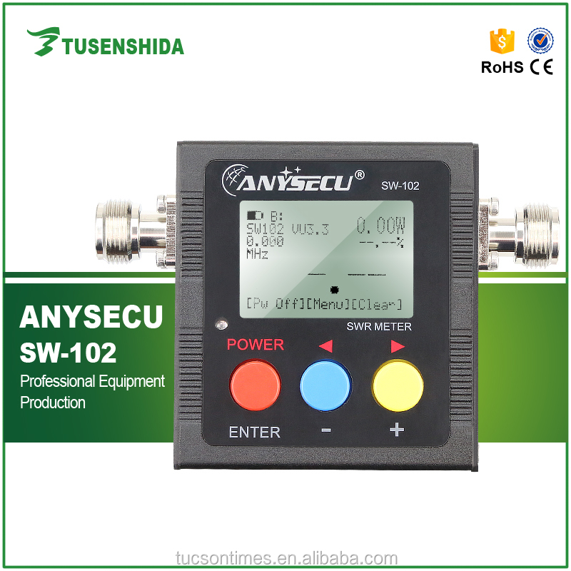NEW MODEL SW-102 vswr 125- 525MHz swr meter with frequency counter & power meter