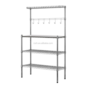 three layers heavy duty chrome wire shelving