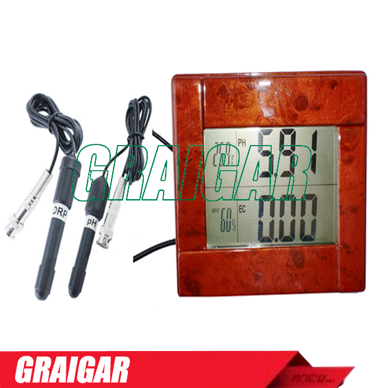 High accuracy Digital 8-in-1 ORP , PH, CF, EC, TDS (ppm), degree F, degree C, Humidity(RH) Meter Tester Monitor